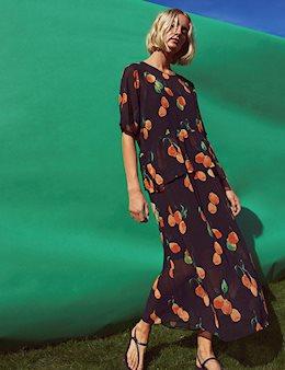 dc30f9fb1753 Just Female Hilda Maxi Kjole - Print
