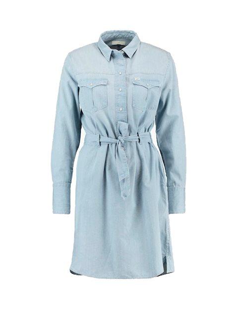 40adf01b4b2 Køb Lee Denim Faded Blue Kjole - Blå - MESSAGE