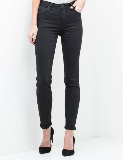 1c7125ea Køb Lee Scarlett High Black Rinse Jeans - Sort - MESSAGE