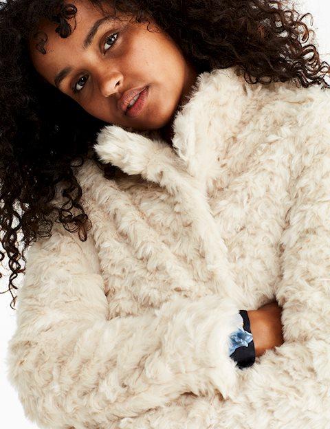 6565c2c1 Køb MBYM Whistler Faux fur jakke - Sand - MESSAGE