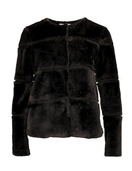 a7c9d42db47f Neo Noir Kahla Faux Fur Pelsjakke - Sort