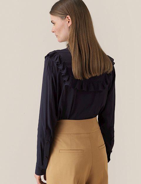 große Auswahl an Designs Mode neue Sachen Second Female Florenza LS Bluse - Sort